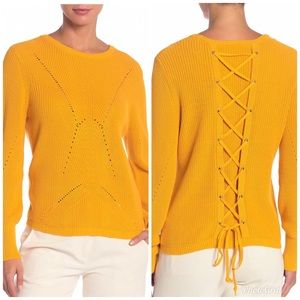 Vince Camuto Marled Citrus Tie Back Sweater VC50